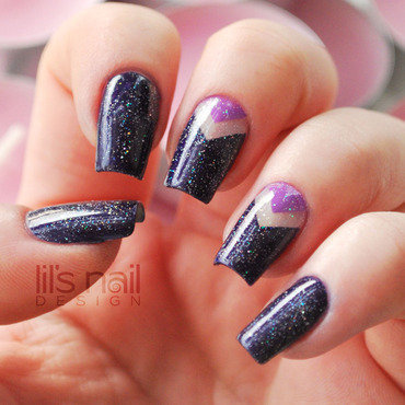 Amethyst Night nail art by Lily-Jane Verezen