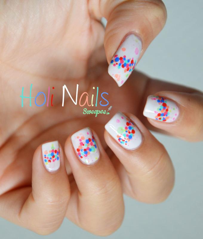 Holi nails nail art by Sweapee