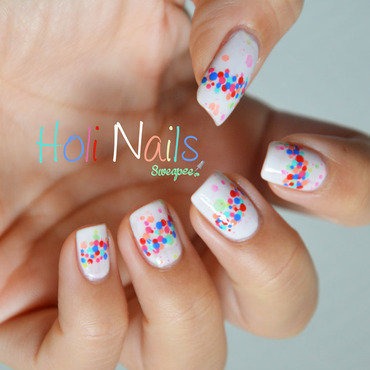Holi nails nail art by Sweapee