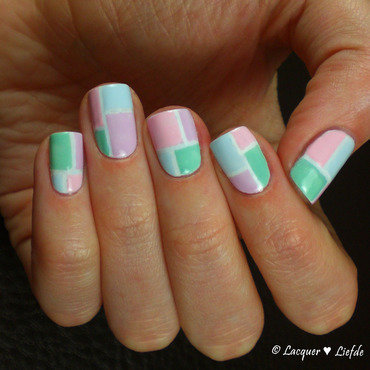 Spring in Pastels nail art by Anna