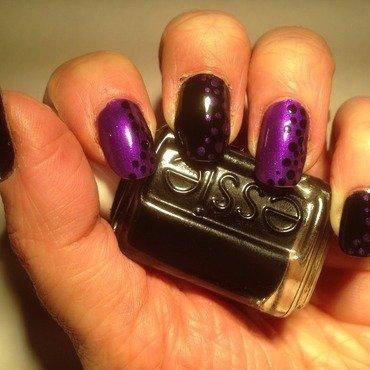 Pastilles contrast nail art by Eleadora
