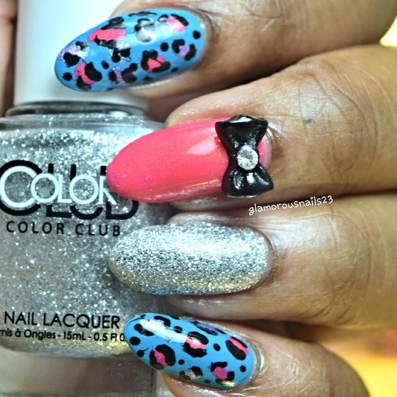 Mix & Match Leopard Print nail art by glamorousnails23