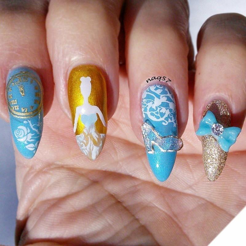 Cinderella Nail Art: Cinderella's Slipper Nail Art By Nora (naq57)