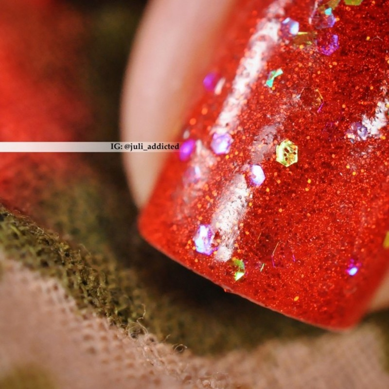 Anny Red Carpet Red and SW №924 Swatch by Juli