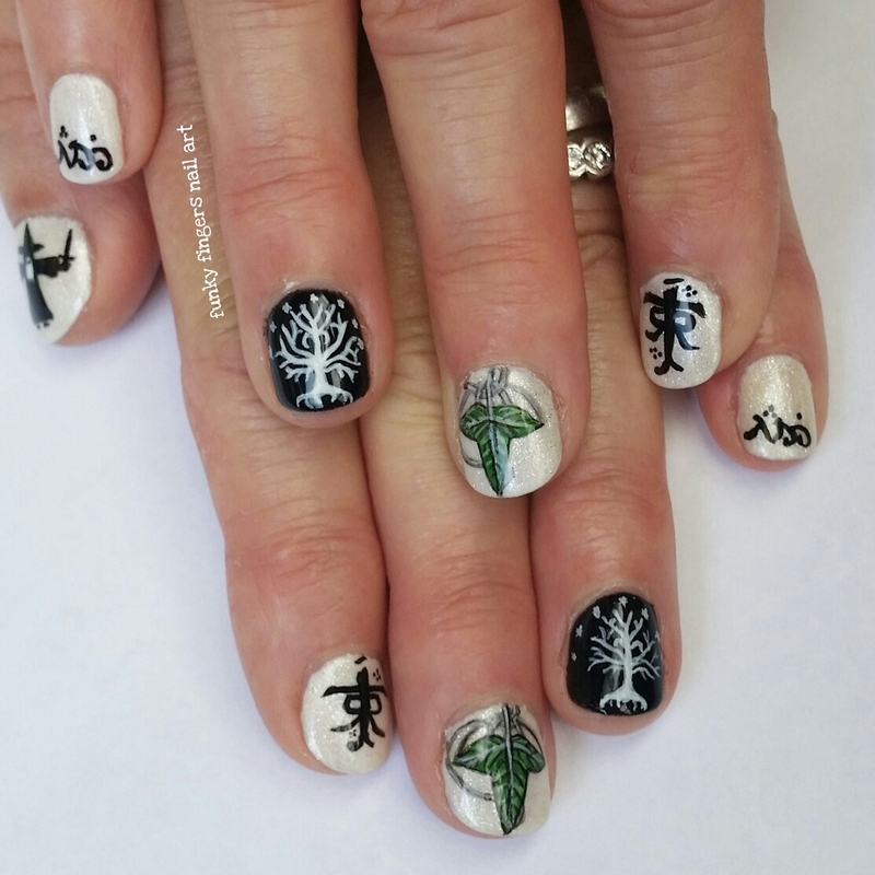 Lord of the rings nails nail art by funky fingers nail art lord of the rings nails nail art by funky fingers nail art sciox Image collections