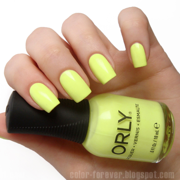 Orly Key Lime Twist Swatch by ania