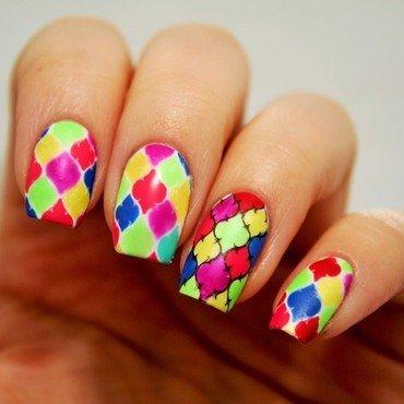 Holi nail art by Jane