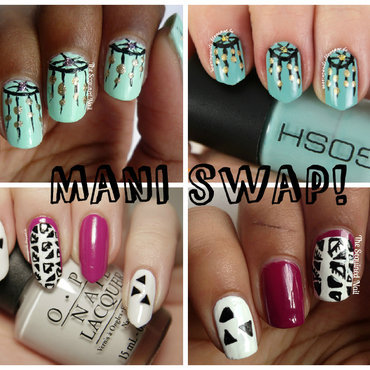 Mani Swap with The Sequined Nail! nail art by Robin