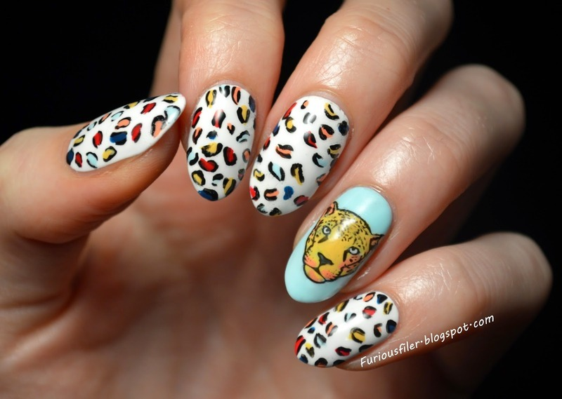 RAWRRR! nail art by Furious Filer