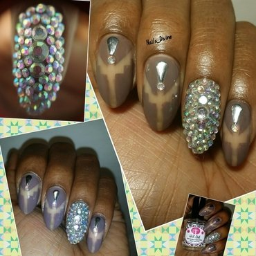 Bling Marks the Spot nail art by Nails_Divine