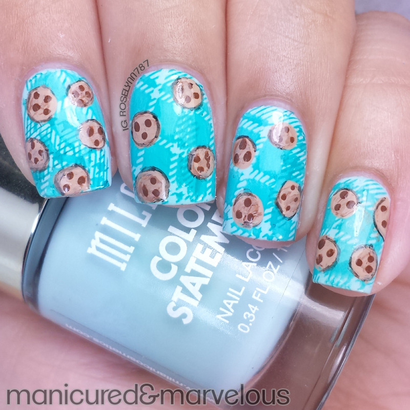 Chocolate Chip Cookies nail art by Rose Mercedes