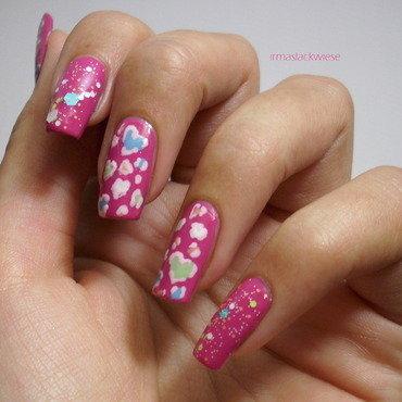 leopard hearts nail art by irma