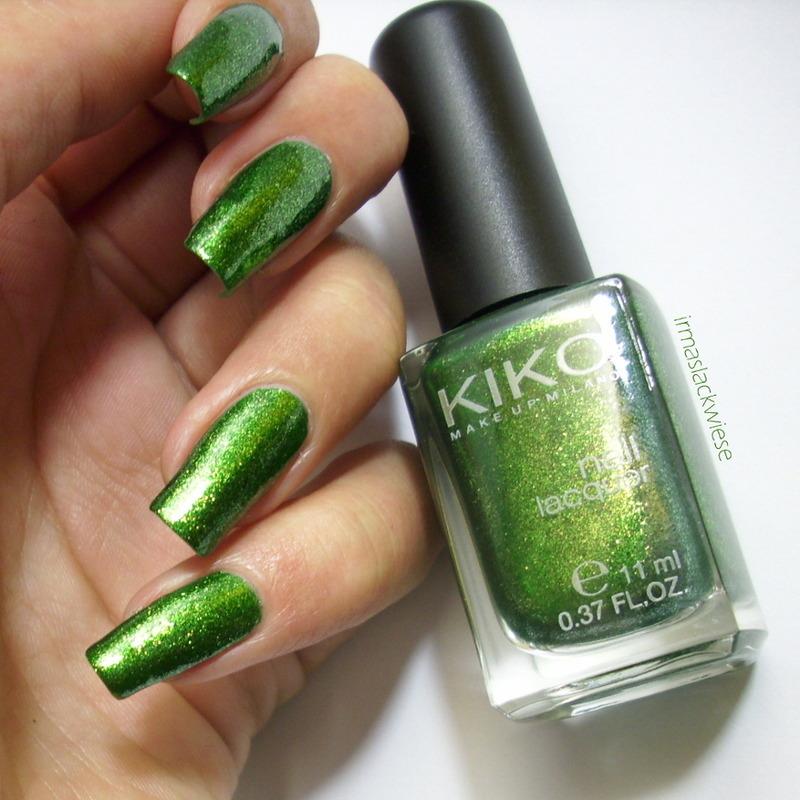 Kiko Pearly Golden Green Swatch by irma