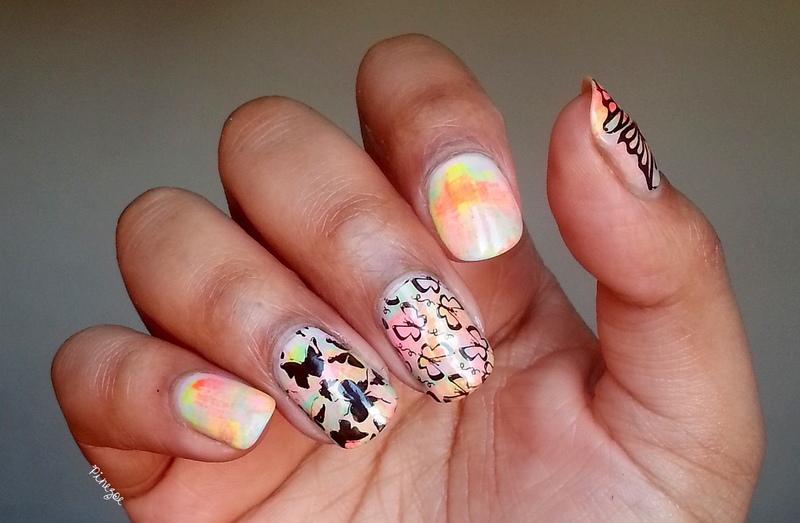 Holi Nails!  nail art by Pinezoe