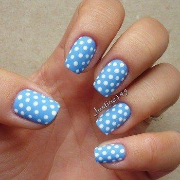 polka dots nail art by Justine145