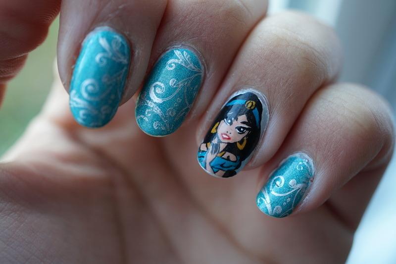 Jasmine nais nail art by Cathy Neves