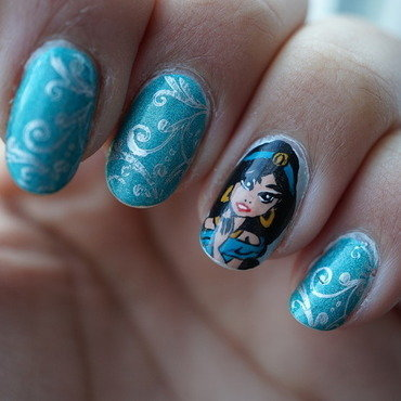 Jasmine nais nail art by Cathy Neves