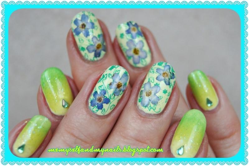 FORGET ME NOT nail art by ELIZA OK-W