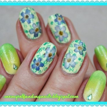 FORGET ME NOT nail art by ELIZA OK-W