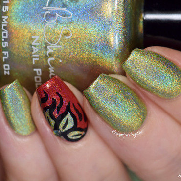 Kb Shimmer Ins and sprouts Swatch by simplynailogical
