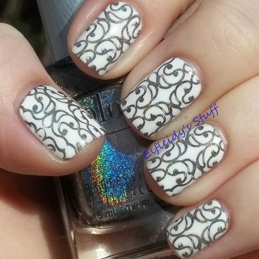 Stamping Sunday 3-08-2016 nail art by Jenette Maitland-Tomblin