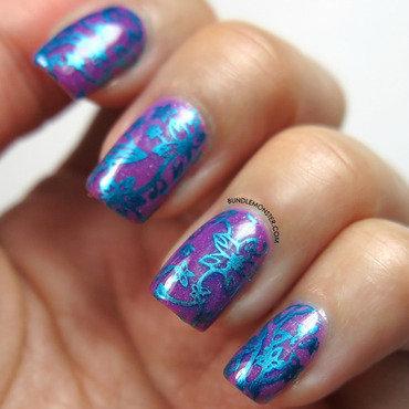 Sedona Sunset nail art by Bundle Monster