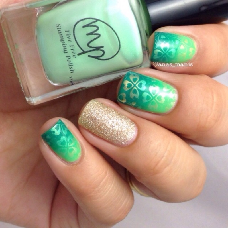 St Patrick's day nail art by anas_manis
