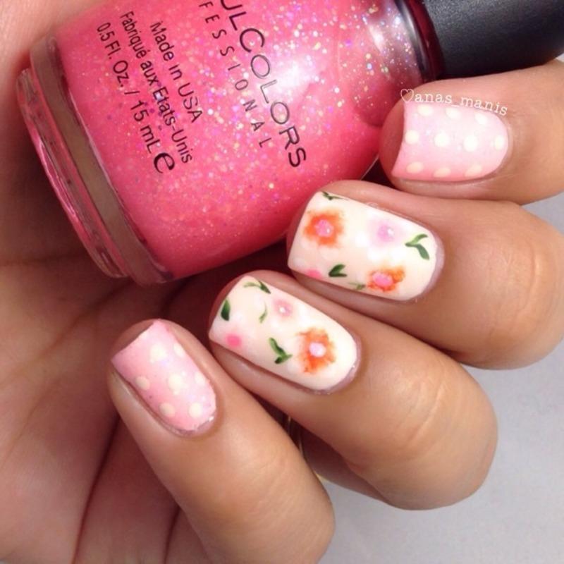 Spring nail art by anas_manis
