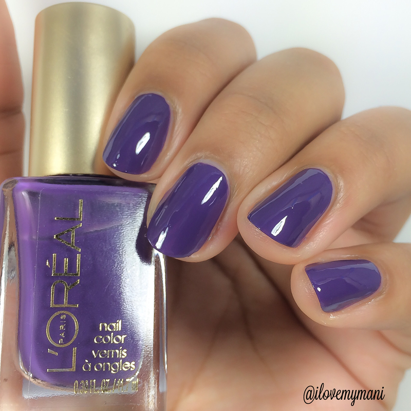 Swatch of L'oreal Paparazzi Pleaser! nail art by Gabrielle
