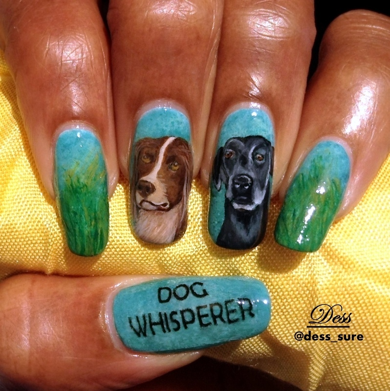 Woof  nail art by Dess_sure