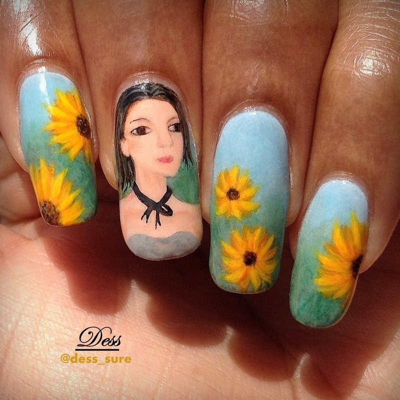 Flower girl nail art by Dess_sure