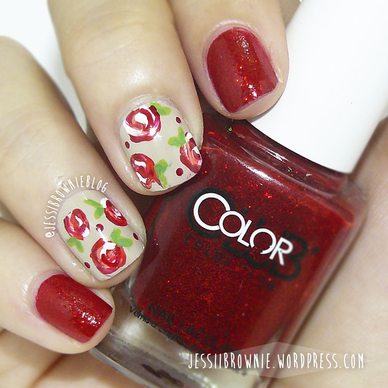 Red Roses nail art by Jessi Brownie (Jessi)