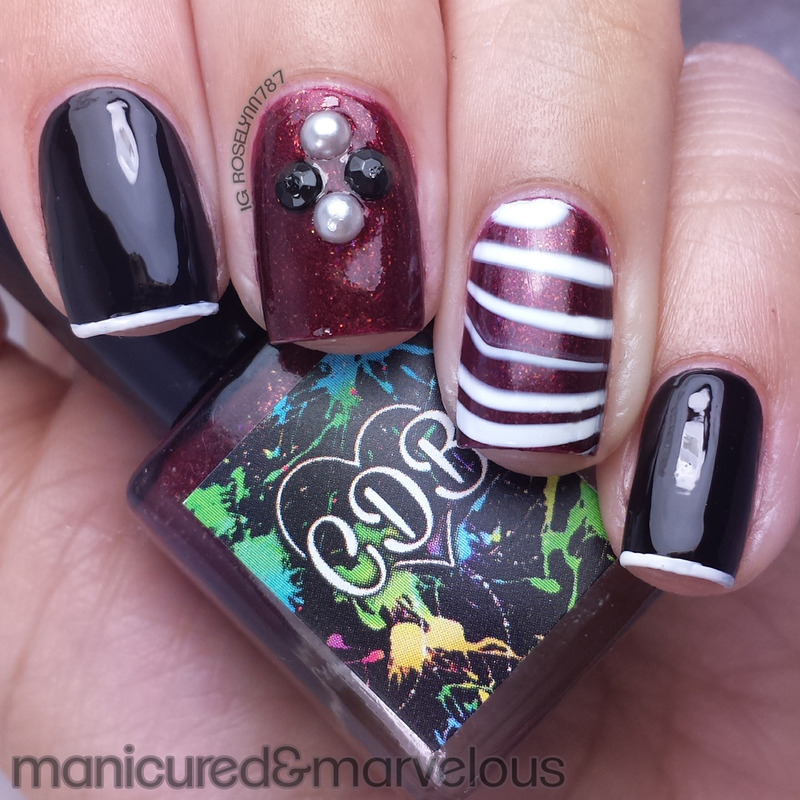 Red Coat Tuesday - Pretty Little Liars nail art by Rose Mercedes