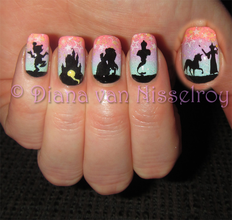 Enchanting Fairytales nail art by Diana van Nisselroy