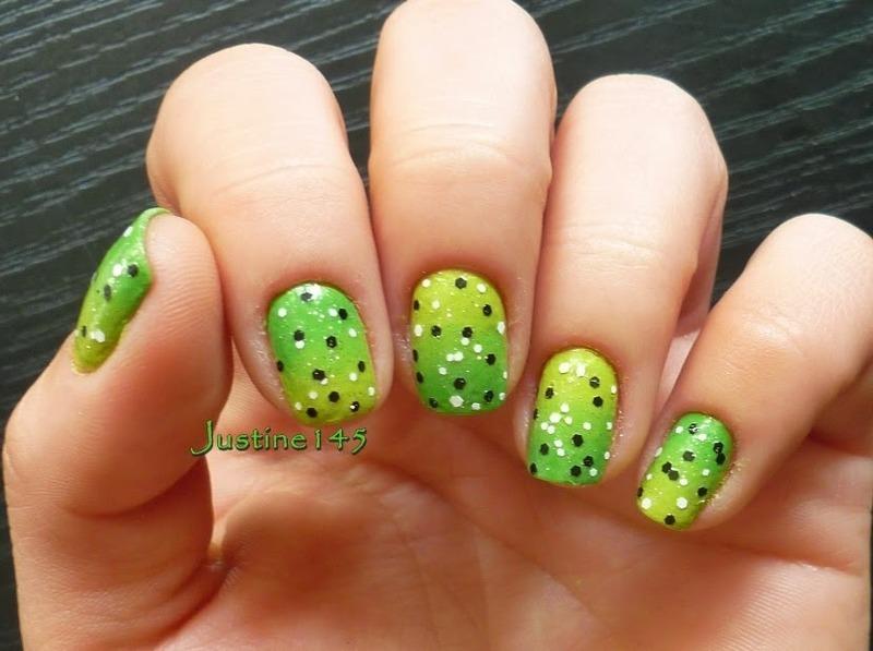 spring gradient nail art by Justine145