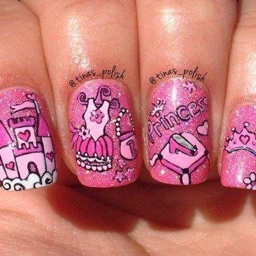 Birthday mani for my princess Bella  nail art by Christina