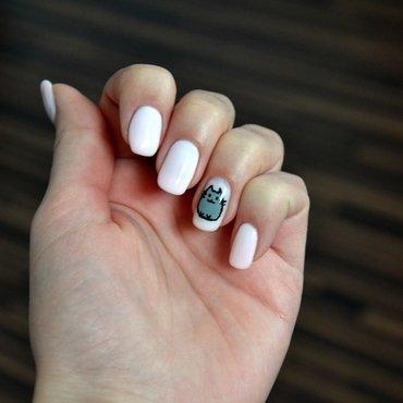 pusheen nail art by mi44ka