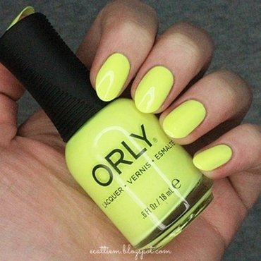 Orly Key Lime Twist Swatch by ecattiem