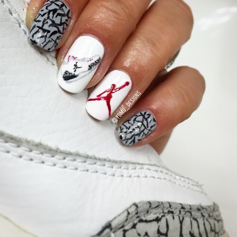 Jordan3 nail art by JMura_Designs
