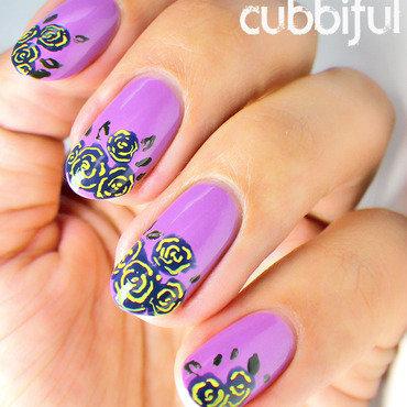 Floral rose nails thumb370f