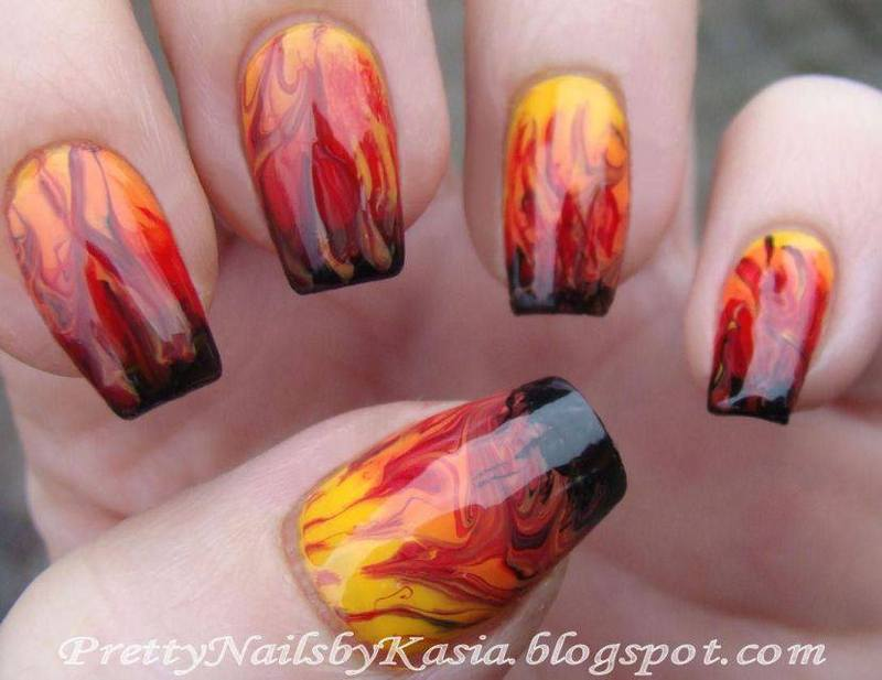 Fire!!! nail art by Pretty Nails by Kasia