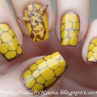 Giraffe :) nail art by Pretty Nails by Kasia