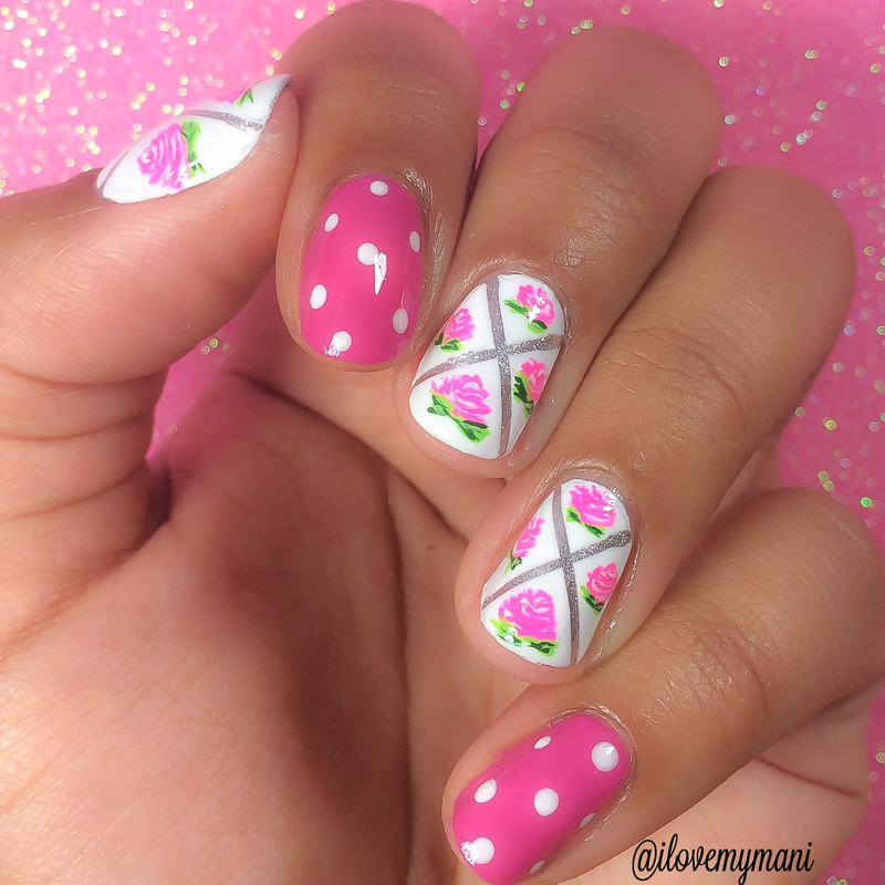 Nail Art Using Painters Tape: Floral Tape Mani Nails! Nail Art By Gabrielle