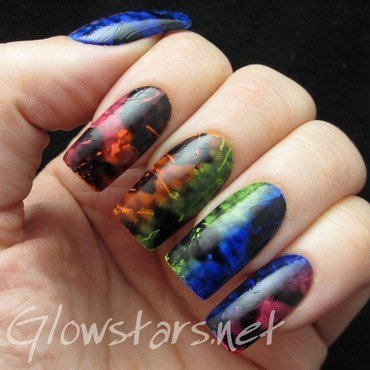 The Digit-al Dozen does nature: chameleon nail art by Vic 'Glowstars' Pires