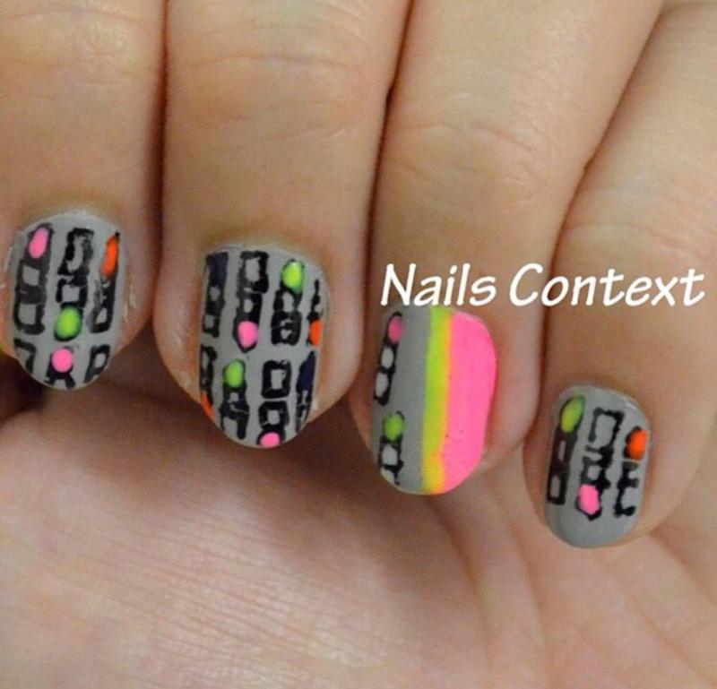 Lipstick Print Nails nail art by NailsContext