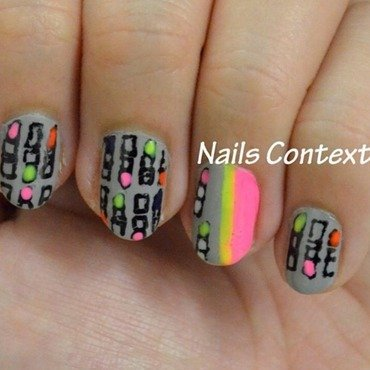 Lipstick Print Nails nail art by NailsContext