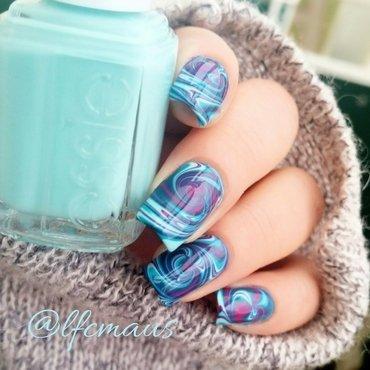 Swirled Marbling- again =D nail art by Arlett
