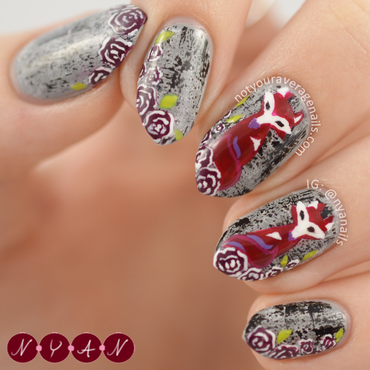 NAFW2015 Day Four: Fashion Trend nail art by Becca (nyanails)