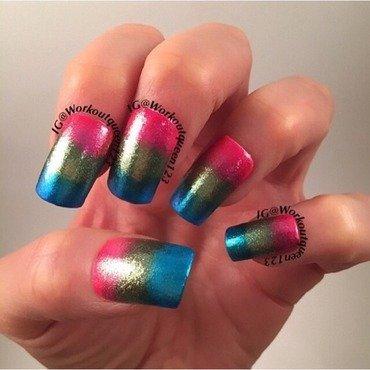 Glitter gradient  nail art by Workoutqueen123