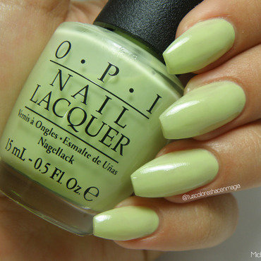 OPI Gargantuan Green Grape Swatch by Michelle Mullett